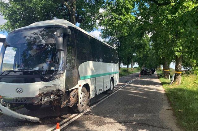 В Калининградской области произошла авария с пассажирским автобусом