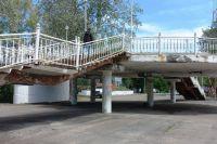 Ремонт пешеходного моста через Урал в Оренбурге планируется завершить на текущей неделе.