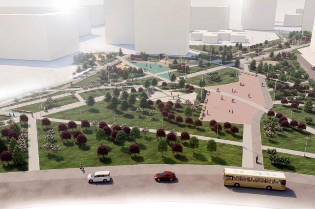 В проекте благоустройства сквера на Опалихинской были учтены предложения горожан.