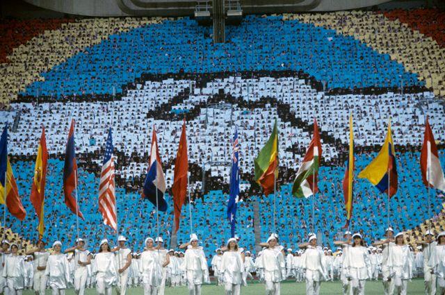 Торжественное открытие Игр доброй воли в Москве на Центральном стадионе имени В.И. Ленина, 1986 г.