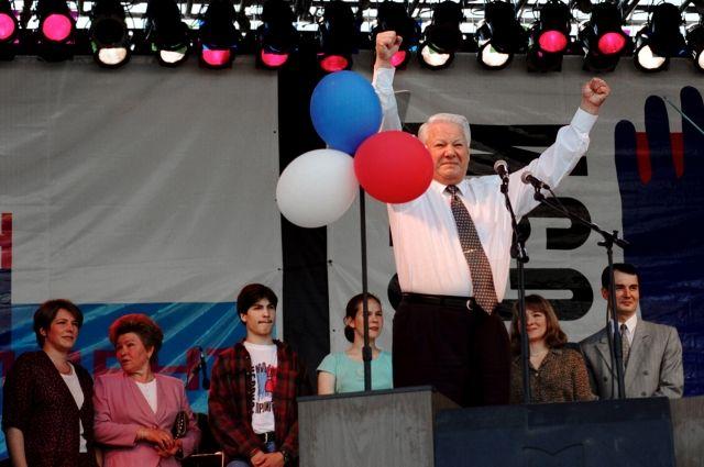 Борис Ельцин, 1996 г.
