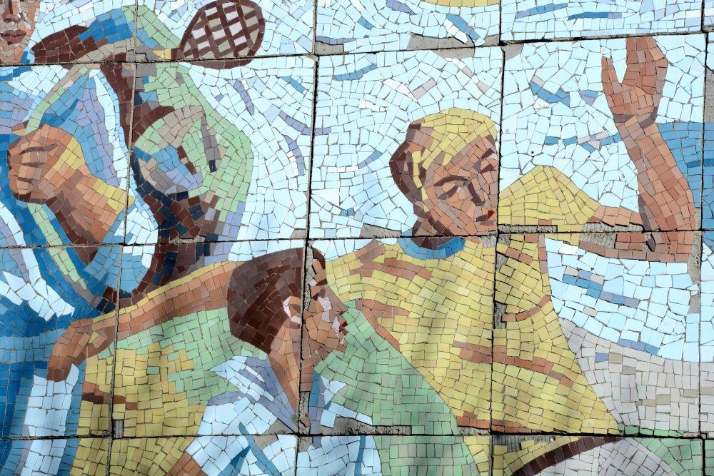 Фрагменты мозаичного панно
