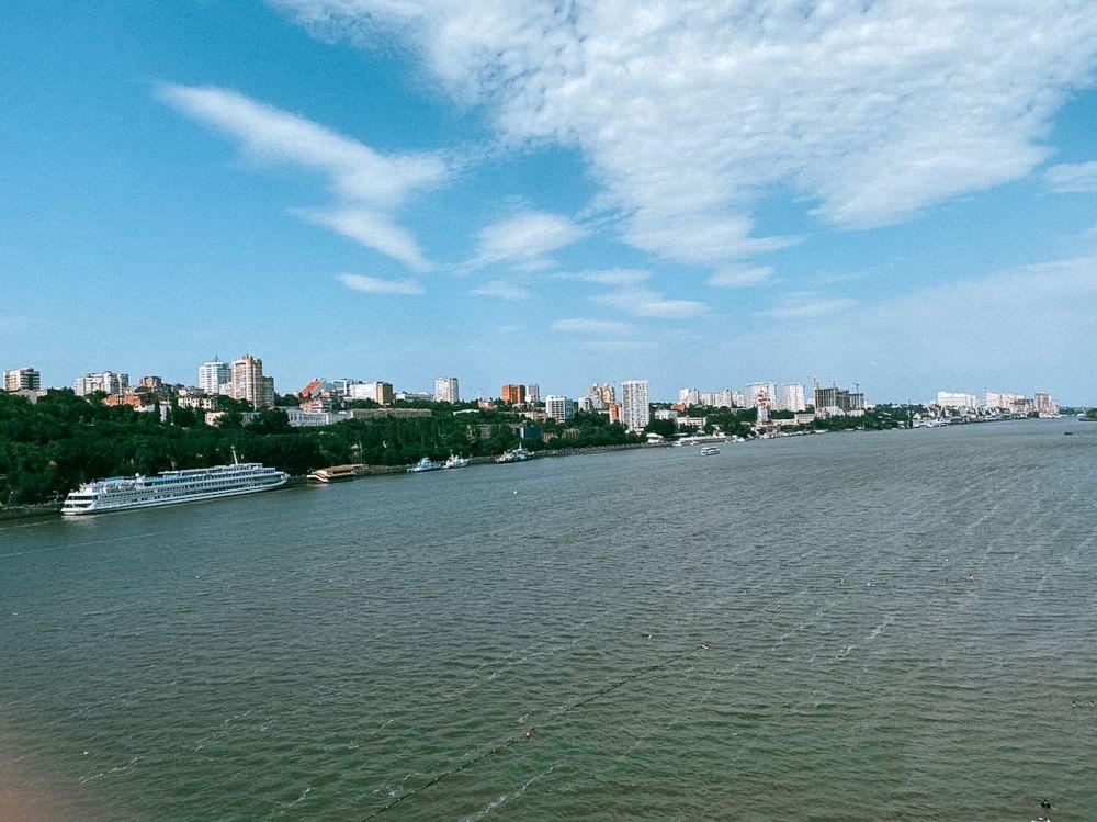 Вид на Левбердон с Ворошиловского моста.