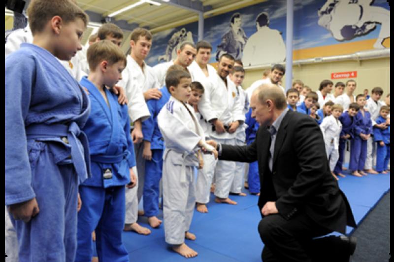 24 января 2012 г. – на тренировке юных дзюдоистов в Кемерове.