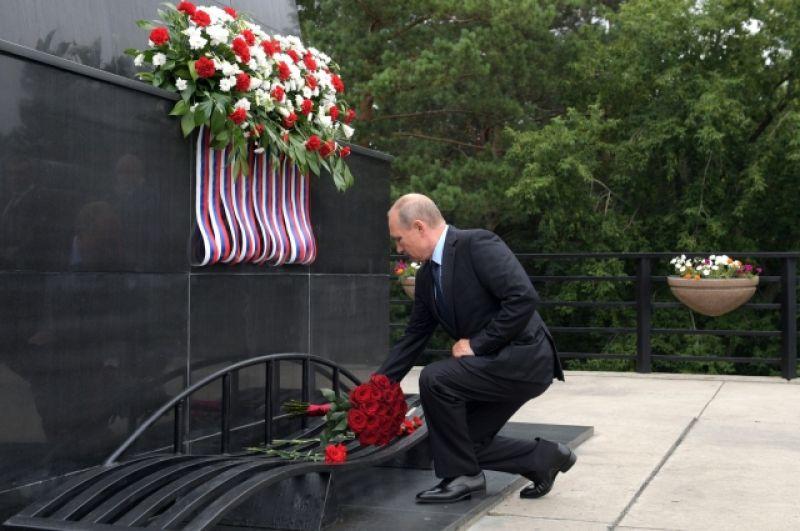 27 августа 2018 г. - у монумента «Память шахтёрам Кузбасса»  в музее-заповеднике «Красная горка».