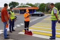 В Оренбурге на 14 улицах нанесли термопластиковую разметку.