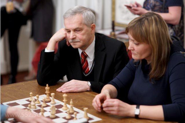 Константин Винокуров и его ученица Светлана Вифлеемская, мастер ФИДЕ.