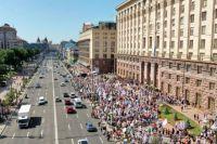 Тысячи предпринимателей протестовали против политики Кличко и Белоцерковца