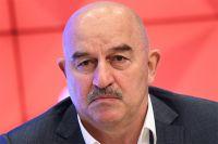 Главный тренер сборной России по футболу Станислав Черчесов во время пресс-конференции.