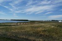 На берегу Соленого озера.