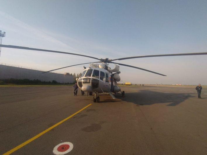 Вертолёт МИ-8 прибыл в аэропорт Магнитогорска для тушения лесных и ландшафтных пожаров в Челябинской области