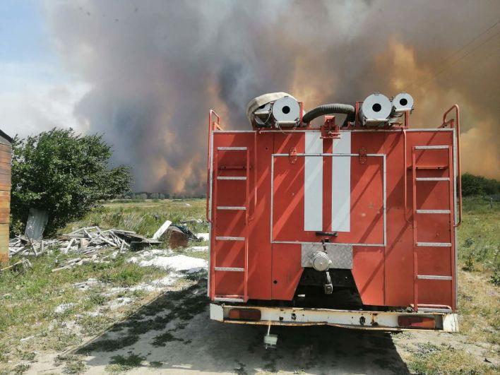 Тушение лесных пожаров в Карталинском муниципальном районе Челябинской области