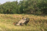 Мужчина 1993 года рождения не справился с управлением, и машина улетела в кювет.