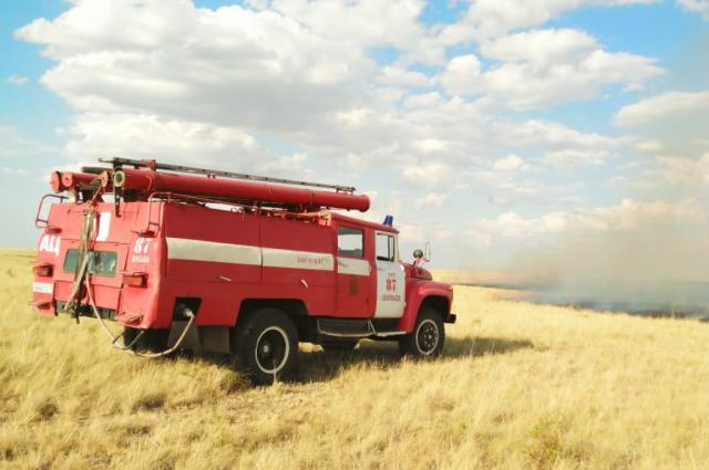 В двух районах Оренбуржья прогнозируется пятый класс пожарной опасности.