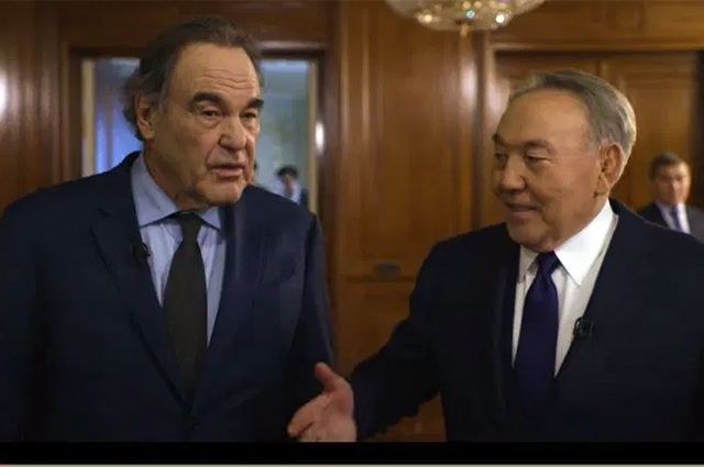Оливер Стоун и Нурсултан Назарбаев.