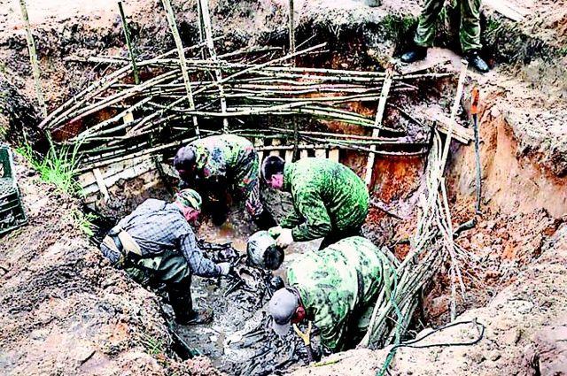 В каждой могиле на территории лагеря находилось по 24 трупа. Большинство с простреленными или проломленными черепами.