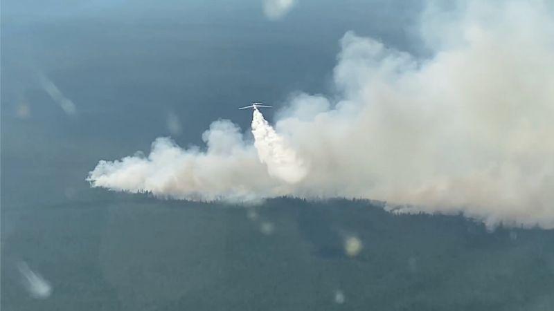 Тушение лесных пожаров в Якутии