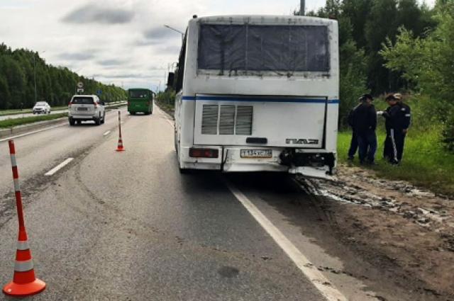 ГИБДД расследует обстоятельства столкновения двух автобусов под Тобольском