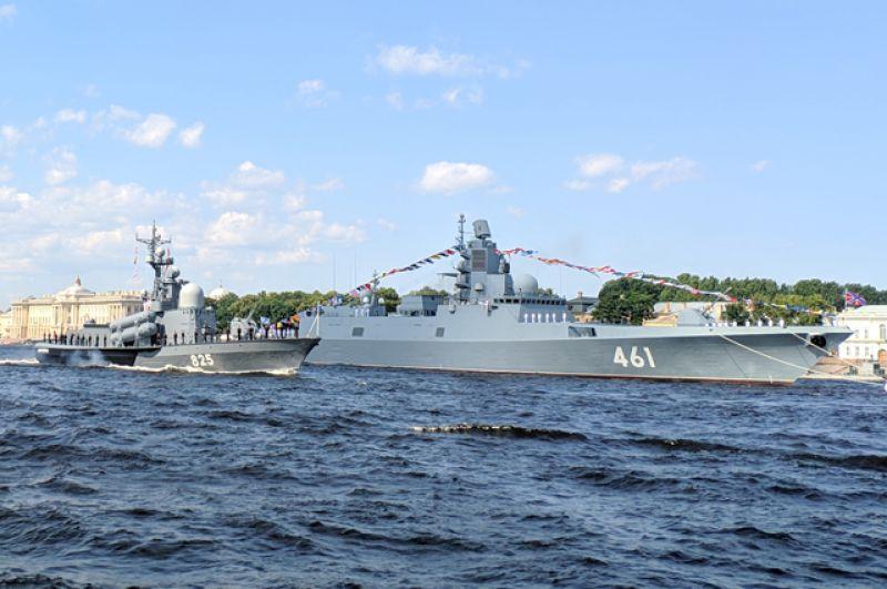 А также патрульные и десантные катера, базовые тральщики и фрегат «Адмирал флота Касатонов».