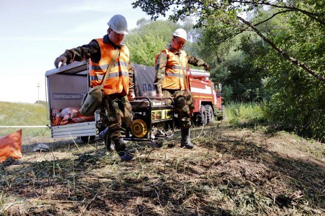 Нефтяная Компания «Новый Поток» провела плановое учебно-тренировочное занятие по локализации и ликвидации условного нефтяного разлива на воде.