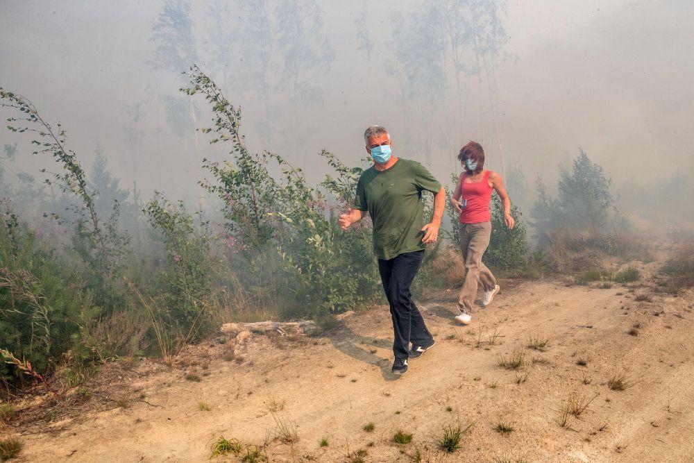Глава Республики Карелия Артур Парфенчиков участвует в координации противопожарных работ в лесу рядом с Сямозером в Пряжинском районе Карелии