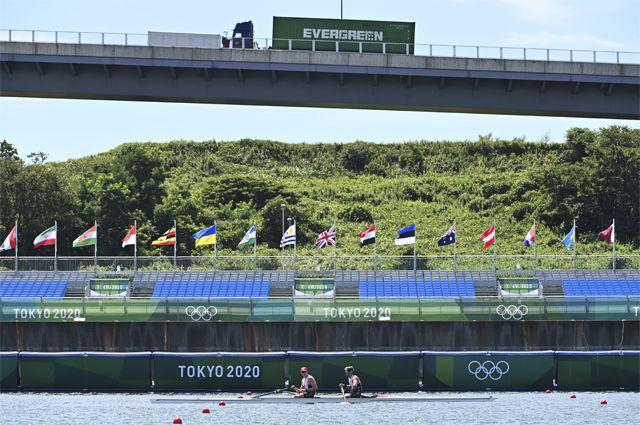 Пустые трибуны на Олимпиаде в Токио.