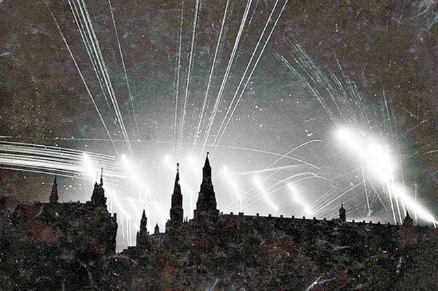 Ночной бой в небе Москвы, 1941 г.