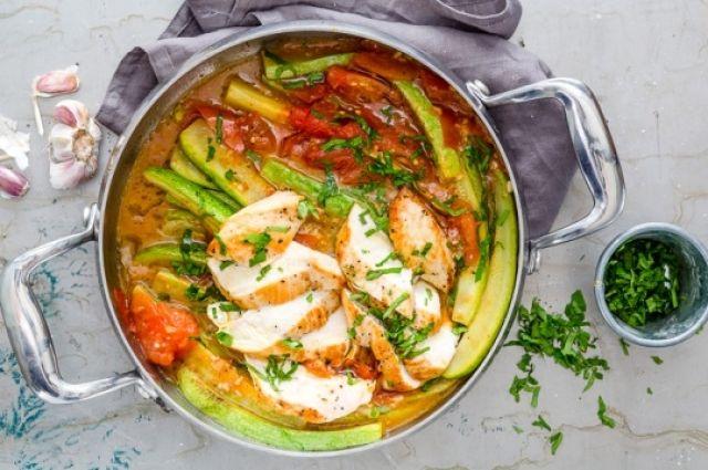 Тушеные кабачки с курицей: пошаговый рецепт вкусного блюда.