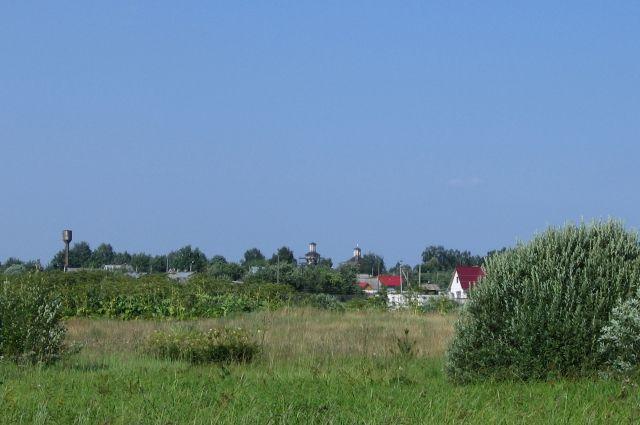Подмосковное село в пригороде Рузы.