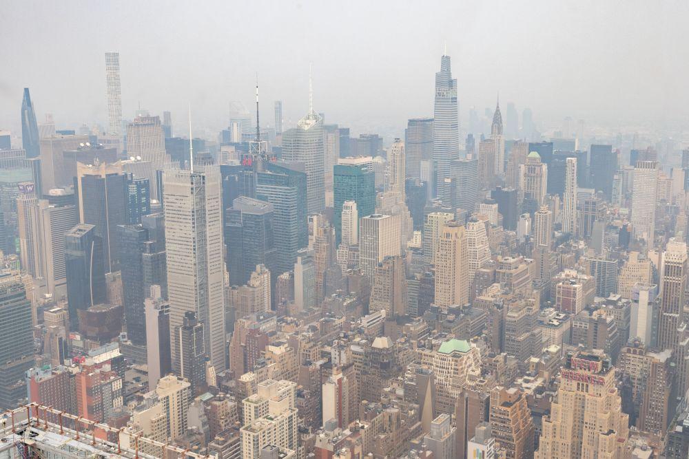 Смог из-за лесных пожаров в Нью-Йорке