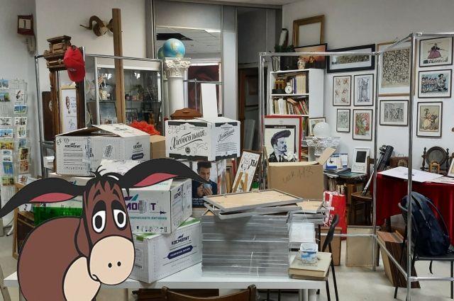 Лихорадочная эвакуация Музея карикатур – «душераздирающее зрелище».