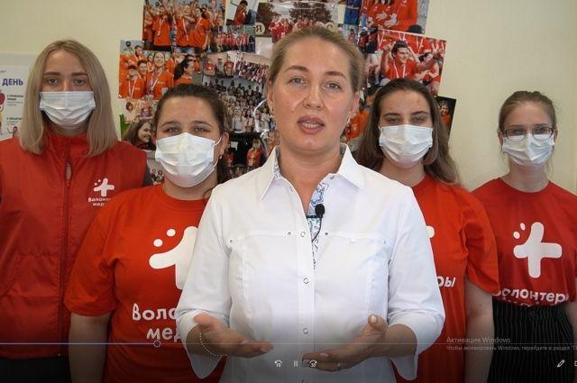 Волонтёры записали видео главе региона.