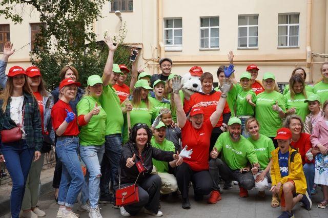Санкт-Петербург стал заключительным, десятым городом, в котором прошла акция «Зеленый двор»!