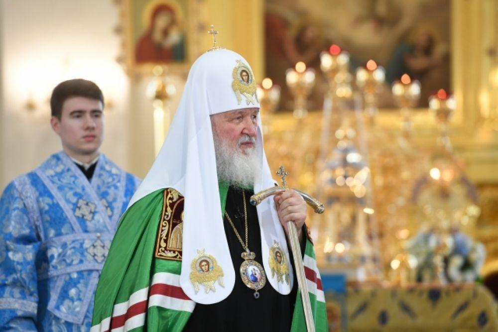 Глава РПЦ в 2016 году заложил первый камень в фундамент, а в 2021 году приехал на освящение собора.
