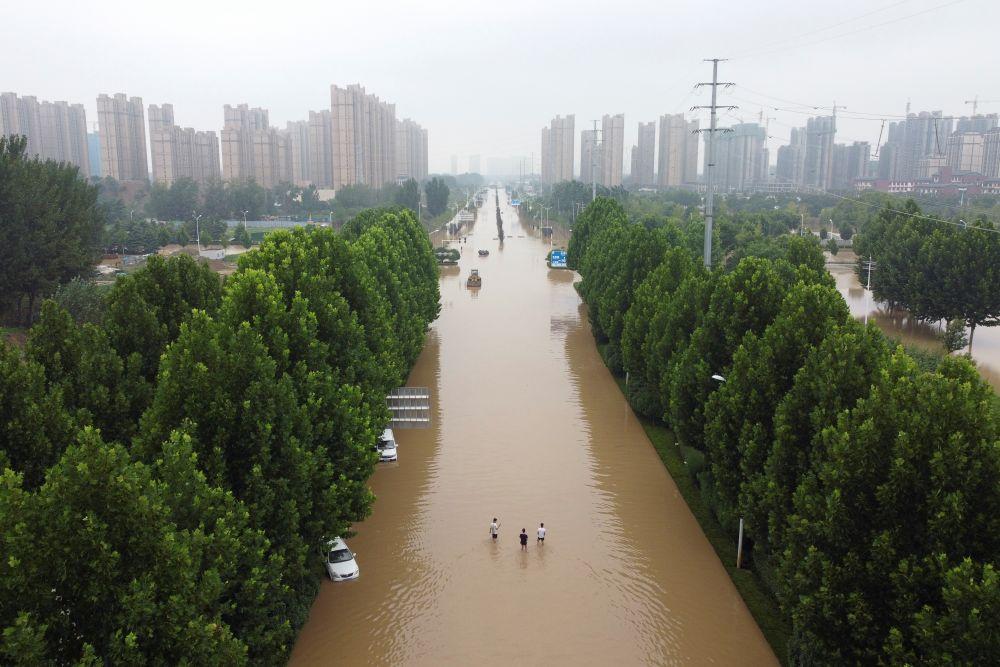 Наводнение в китайском Чжэнчжоу