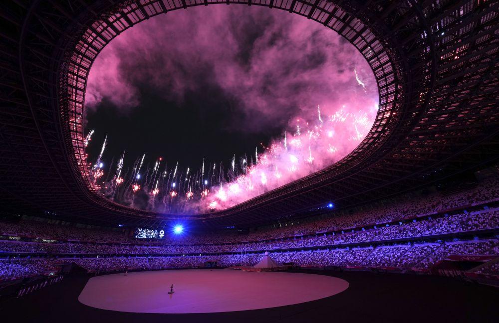 Церемония открытия на Национальном олимпийском стадионе