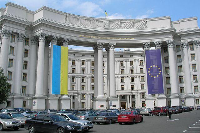 Украина выразила протест из-за голосования на выборах в ГД с участием ДНР