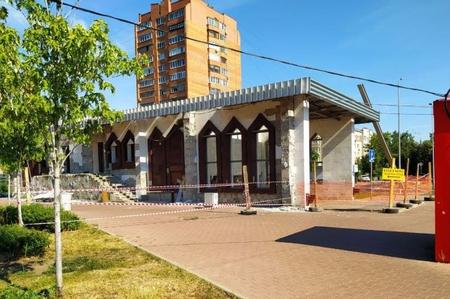 Снос павильона на станции «Парк Культуры».