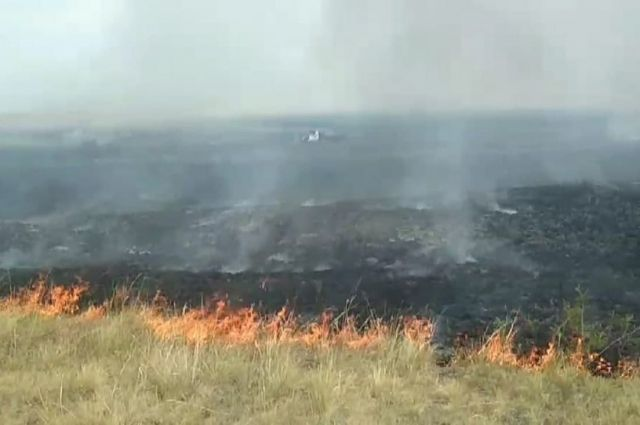 При пожаре в Кваркенском районе полицейские эвакуировали из деревни 19 человек.