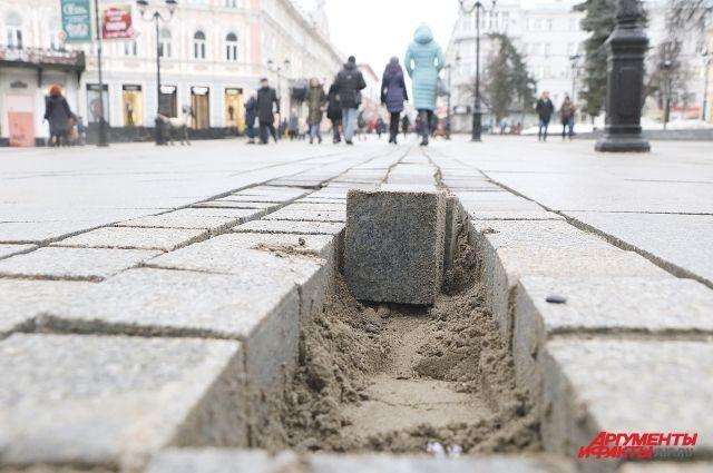 Так начинались работы на участке главной улицы Нижнего Новгорода.
