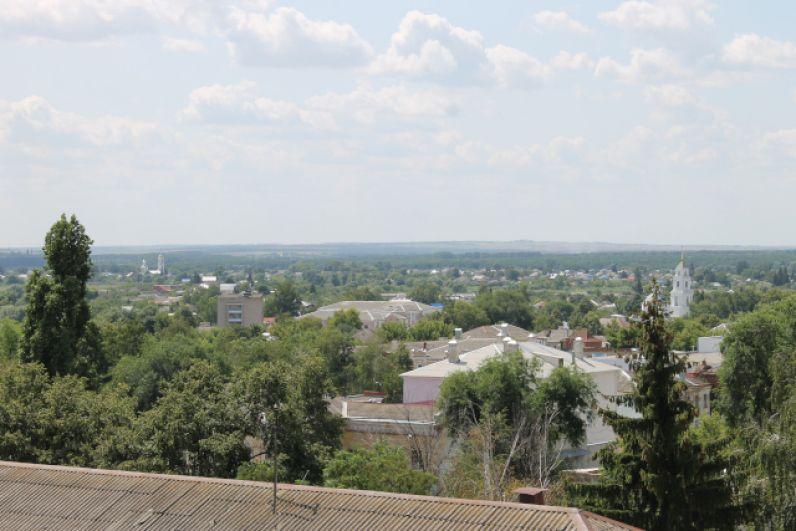 Панорама города с высоты смотровой башни историко-художественного музея имени Крамского