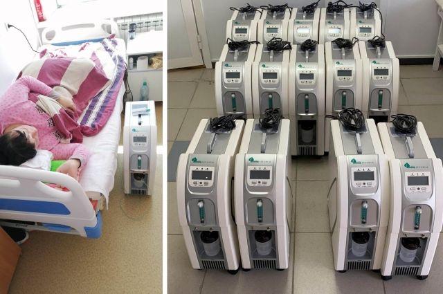 С помощью аппаратов медики проводят кислородную терапию для людей с лёгочной недостаточностью.