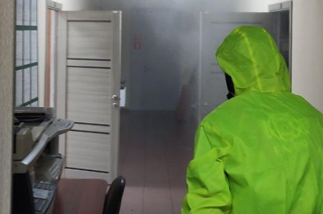 Здания ульяновского минприроды продезинфицировали от коронавируса