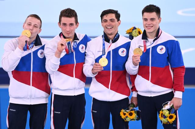 Сборная России по спортивной гимнастике.