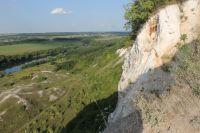 Долина Дона с высоты меловых гор у села Сторожевое-1.