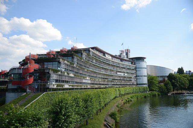 Здание Европейского суда по правам человека.