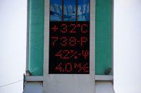 Столбик термометра поднялся выше +30 градусов.