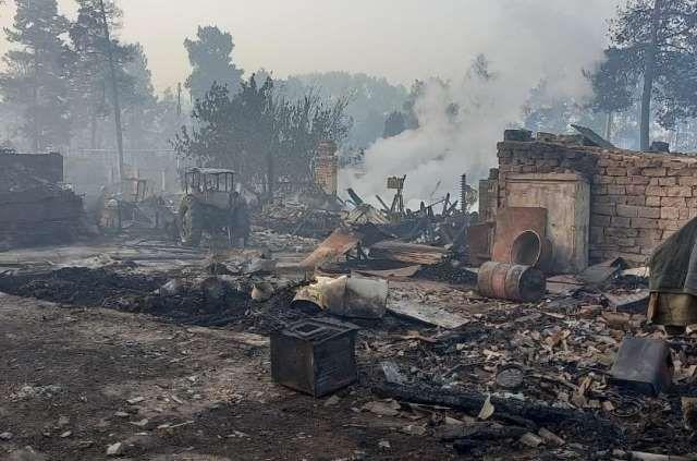 Пострадавшие дома в поселке Запасное.