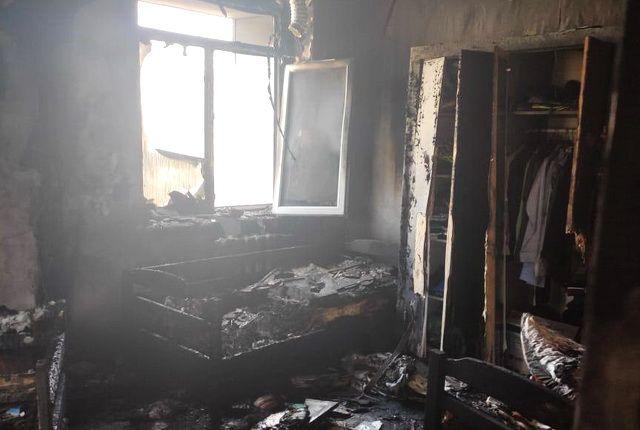 Выгоревшая комната.
