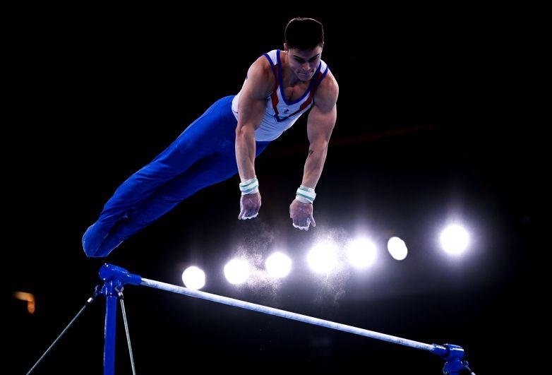 Никита Нагорный, завоевавший бронзовую медаль в мужском индивидуальном многоборье на соревнованиях по спортивной гимнастике на XXXII летних Олимпийских играх